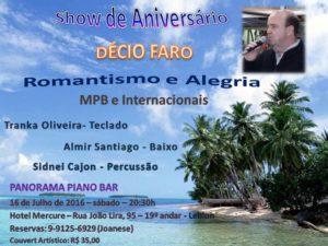 Show de Aniversário Décio Faro | MPB e Internacionais | Panorama Piano Bar @ Panorama Piano Bar | Rio de Janeiro | Rio de Janeiro | Brasil